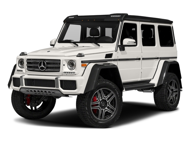 designo Manufaktur Mystic White 2018 Mercedes-Benz G-Class Pictures G-Class G 550 4x4 Squared SUV photos front view