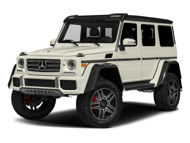 Polar White 2018 Mercedes-Benz G-Class Pictures G-Class G 550 4x4 Squared SUV photos front view