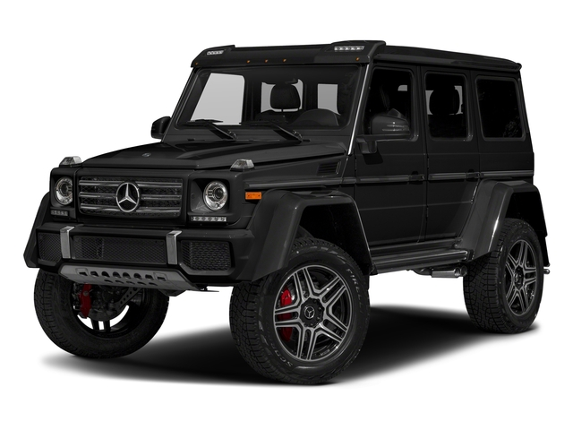 Obsidian Black Metallic 2018 Mercedes-Benz G-Class Pictures G-Class G 550 4x4 Squared SUV photos front view