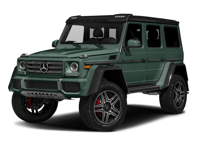 Jade Green Metallic 2018 Mercedes-Benz G-Class Pictures G-Class G 550 4x4 Squared SUV photos front view