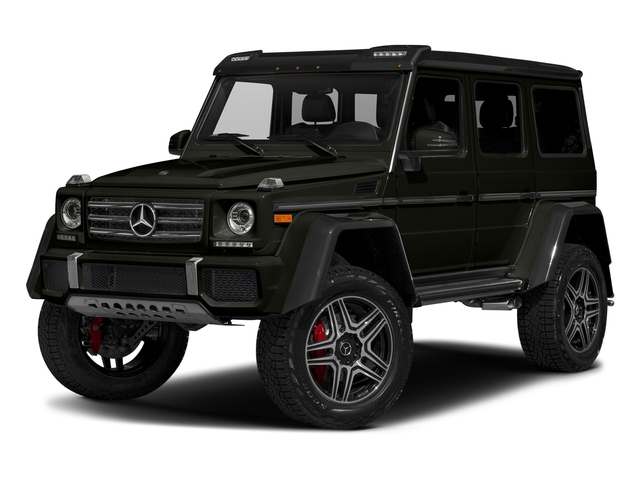 designo Manufaktur Verde Brook Metallic 2018 Mercedes-Benz G-Class Pictures G-Class G 550 4x4 Squared SUV photos front view