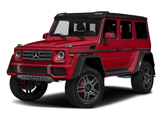 designo Manufaktur Magma Red 2018 Mercedes-Benz G-Class Pictures G-Class G 550 4x4 Squared SUV photos front view