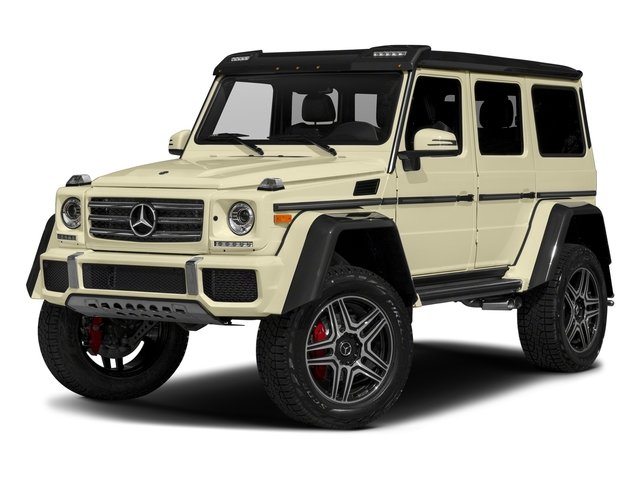 designo Manufaktur Light Ivory 2018 Mercedes-Benz G-Class Pictures G-Class G 550 4x4 Squared SUV photos front view