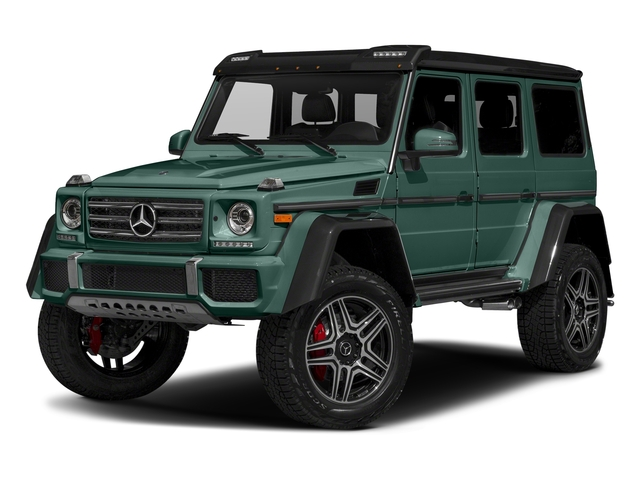 designo Manufaktur Agate Green 2018 Mercedes-Benz G-Class Pictures G-Class G 550 4x4 Squared SUV photos front view