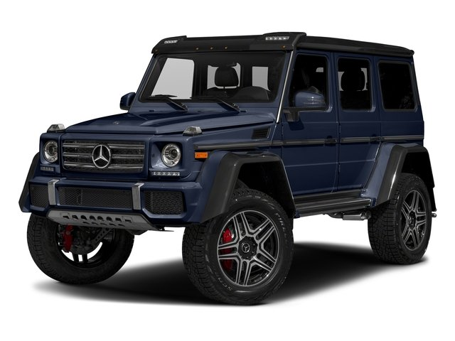 designo Manufaktur Midnight Blue 2018 Mercedes-Benz G-Class Pictures G-Class G 550 4x4 Squared SUV photos front view