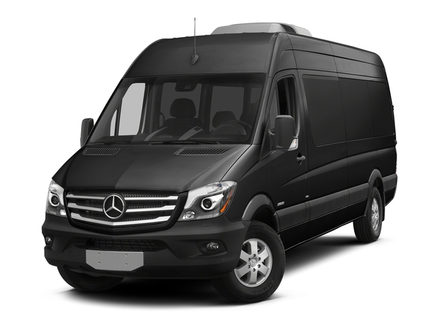 Obsidian Black Metallic 2018 Mercedes-Benz Sprinter Passenger Van Pictures Sprinter Passenger Van 2500 High Roof V6 170 RWD photos front view