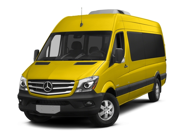 Broom Yellow 2018 Mercedes-Benz Sprinter Passenger Van Pictures Sprinter Passenger Van 2500 High Roof V6 170 RWD photos front view