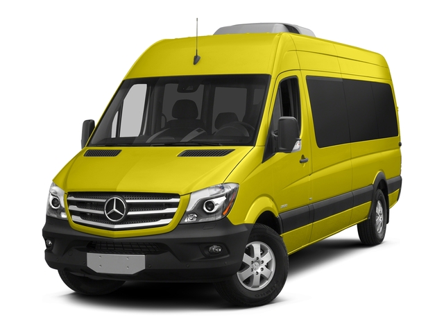 Calcite Yellow Metallic 2018 Mercedes-Benz Sprinter Passenger Van Pictures Sprinter Passenger Van 2500 High Roof V6 170 RWD photos front view