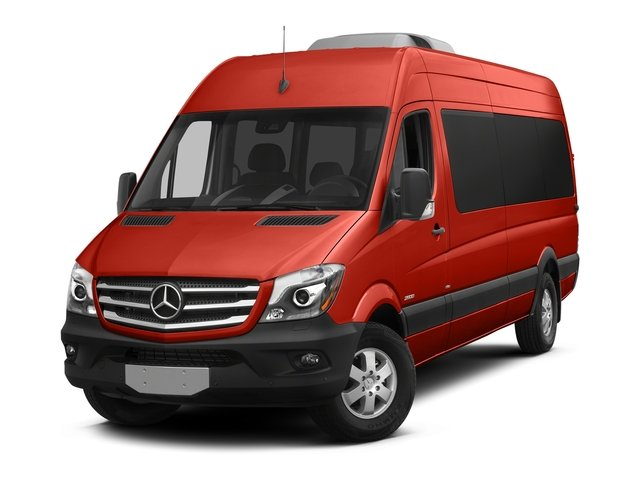 Flame Red 2018 Mercedes-Benz Sprinter Passenger Van Pictures Sprinter Passenger Van 2500 High Roof V6 170 RWD photos front view