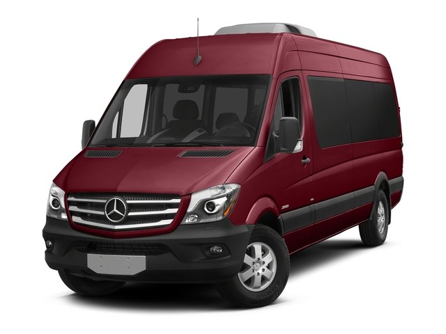 Velvet Red 2018 Mercedes-Benz Sprinter Passenger Van Pictures Sprinter Passenger Van 2500 High Roof V6 170 RWD photos front view