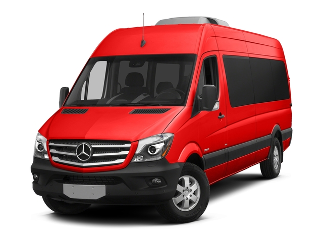 Coca Cola Red 2018 Mercedes-Benz Sprinter Passenger Van Pictures Sprinter Passenger Van 2500 High Roof V6 170 RWD photos front view