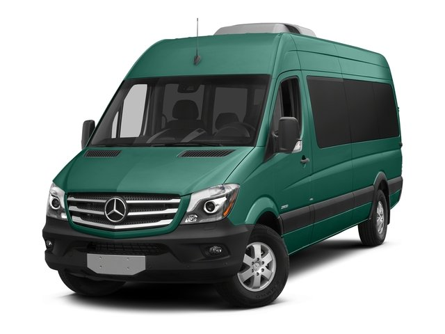 Aqua Green Metallic 2018 Mercedes-Benz Sprinter Passenger Van Pictures Sprinter Passenger Van 2500 High Roof V6 170 RWD photos front view