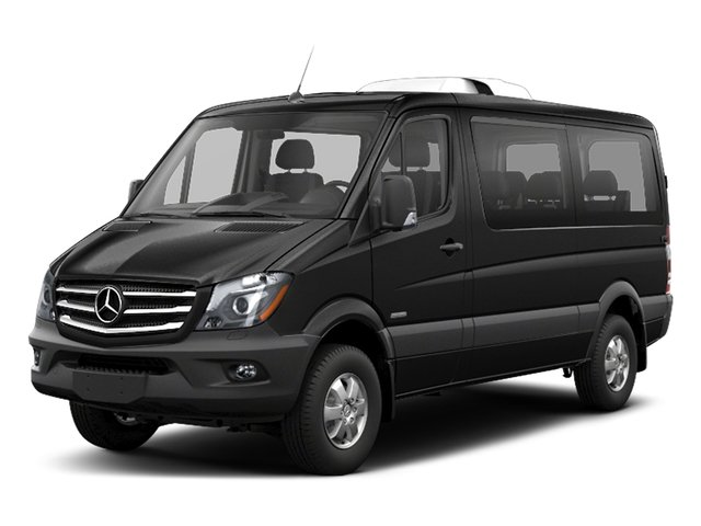 Obsidian Black Metallic 2018 Mercedes-Benz Sprinter Passenger Van Pictures Sprinter Passenger Van 2500 Standard Roof V6 144 RWD photos front view