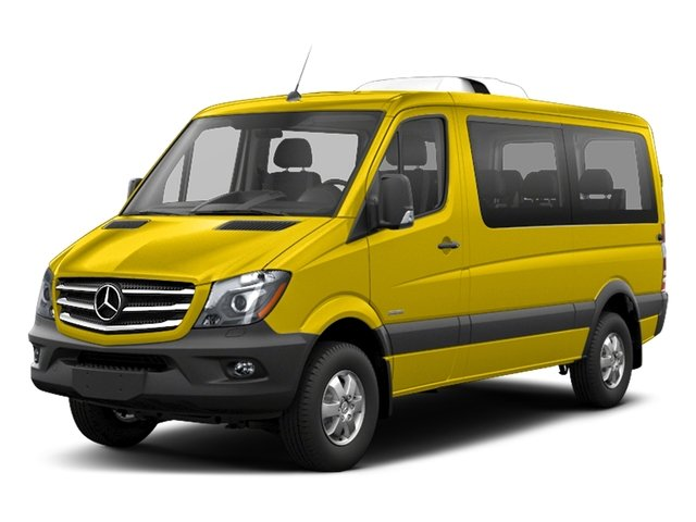 Broom Yellow 2018 Mercedes-Benz Sprinter Passenger Van Pictures Sprinter Passenger Van 2500 Standard Roof V6 144 RWD photos front view