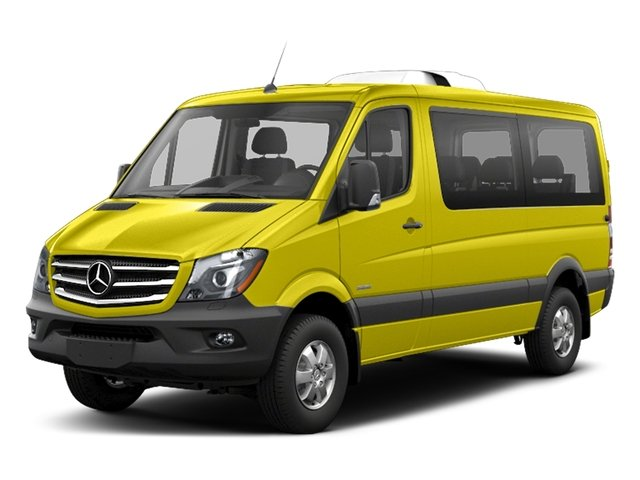 Calcite Yellow Metallic 2018 Mercedes-Benz Sprinter Passenger Van Pictures Sprinter Passenger Van 2500 Standard Roof V6 144 4WD photos front view