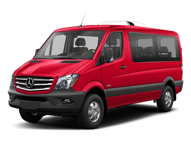 Coca Cola Red 2018 Mercedes-Benz Sprinter Passenger Van Pictures Sprinter Passenger Van 2500 Standard Roof V6 144 4WD photos front view