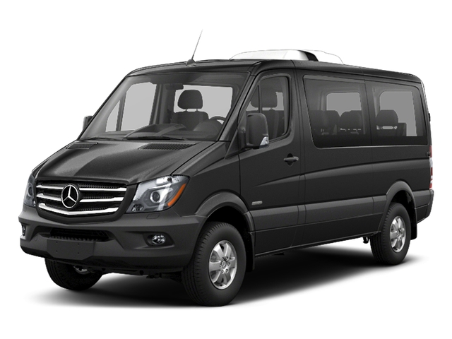 Graphite Gray Metallic 2018 Mercedes-Benz Sprinter Passenger Van Pictures Sprinter Passenger Van 2500 Standard Roof V6 144 RWD photos front view