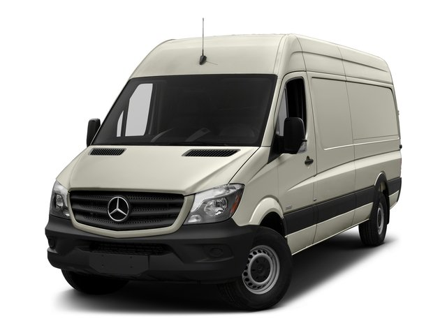 Gray White 2018 Mercedes-Benz Sprinter Cargo Van Pictures Sprinter Cargo Van 2500 High Roof V6 170 Extended 4WD photos front view