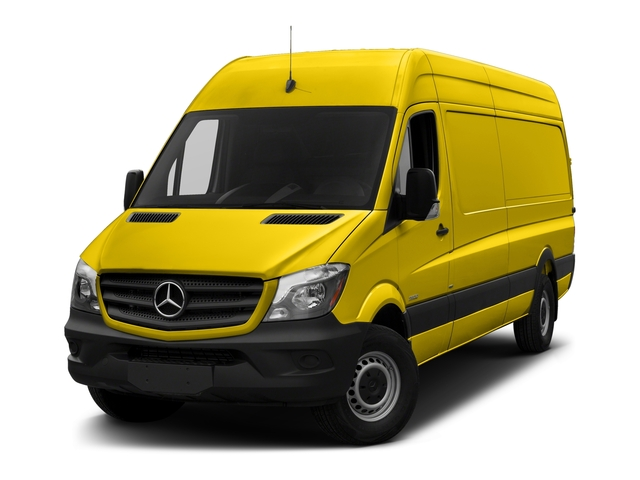 Broom Yellow 2018 Mercedes-Benz Sprinter Cargo Van Pictures Sprinter Cargo Van 2500 High Roof V6 170 Extended 4WD photos front view