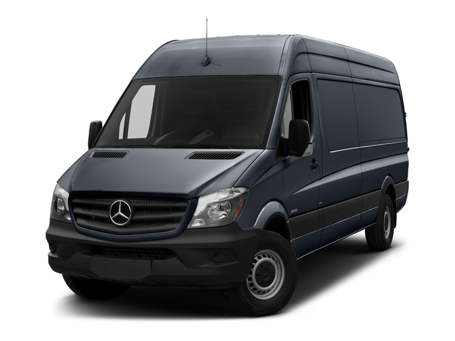 Graphite Gray 2018 Mercedes-Benz Sprinter Cargo Van Pictures Sprinter Cargo Van 2500 High Roof V6 170 Extended 4WD photos front view