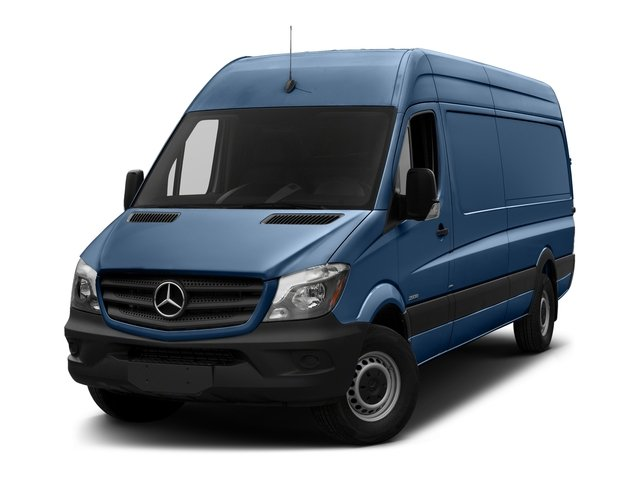 Brilliant Blue 2018 Mercedes-Benz Sprinter Cargo Van Pictures Sprinter Cargo Van 2500 High Roof V6 170 Extended 4WD photos front view