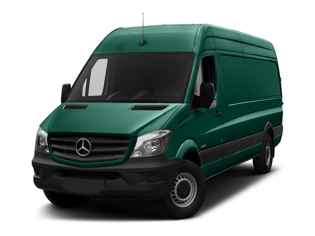 Solar Green 2018 Mercedes-Benz Sprinter Cargo Van Pictures Sprinter Cargo Van 2500 High Roof V6 170 Extended 4WD photos front view