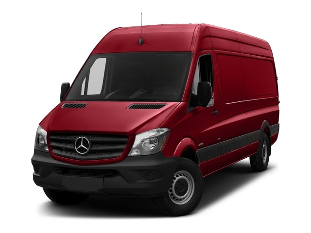 Flame Red 2018 Mercedes-Benz Sprinter Cargo Van Pictures Sprinter Cargo Van 2500 High Roof V6 170 Extended RWD photos front view