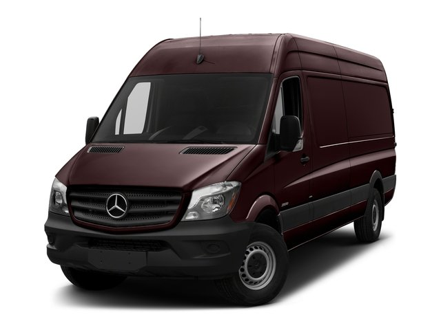 Velvet Red 2018 Mercedes-Benz Sprinter Cargo Van Pictures Sprinter Cargo Van 2500 High Roof V6 170 Extended 4WD photos front view