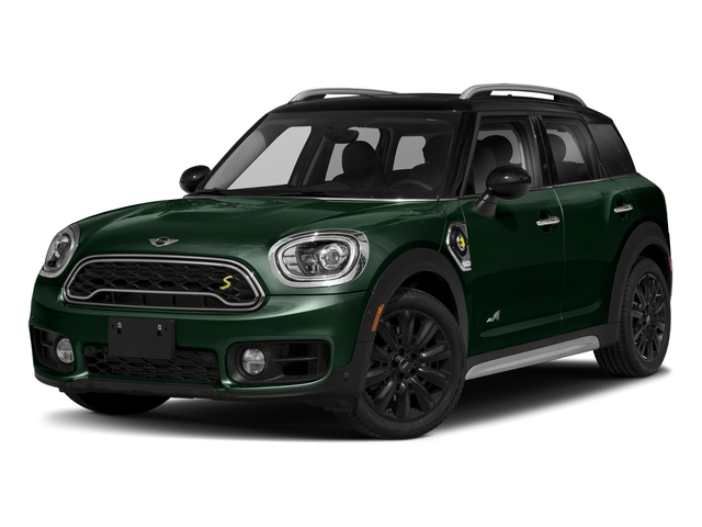 British Racing Green Metallic 2018 MINI Countryman Pictures Countryman Cooper S E ALL4 photos front view