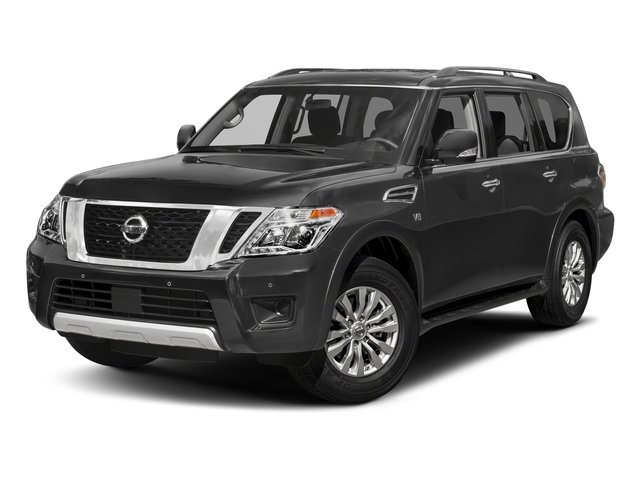 Gun Metallic 2018 Nissan Armada Pictures Armada 4x4 SV photos front view