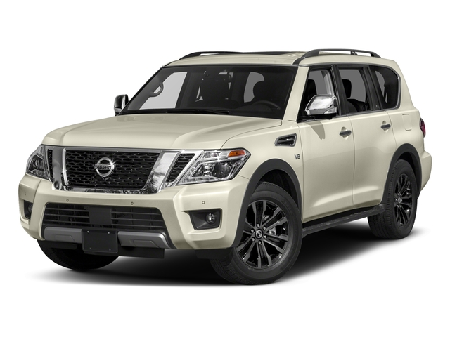 Pearl White 2018 Nissan Armada Pictures Armada 4x2 Platinum photos front view