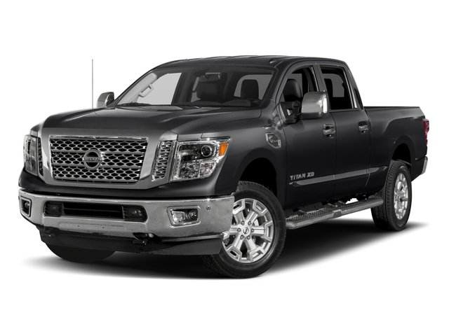 Magnetic Black 2018 Nissan Titan XD Pictures Titan XD 4x2 Gas Crew Cab SL photos front view