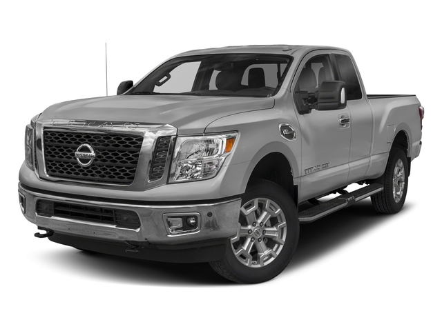 Brilliant Silver 2018 Nissan Titan XD Pictures Titan XD 4x2 Gas King Cab S photos front view