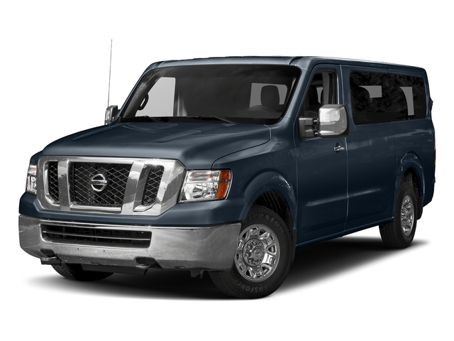 Arctic Blue Metallic 2018 Nissan NV Passenger Pictures NV Passenger V6 HD SV photos front view