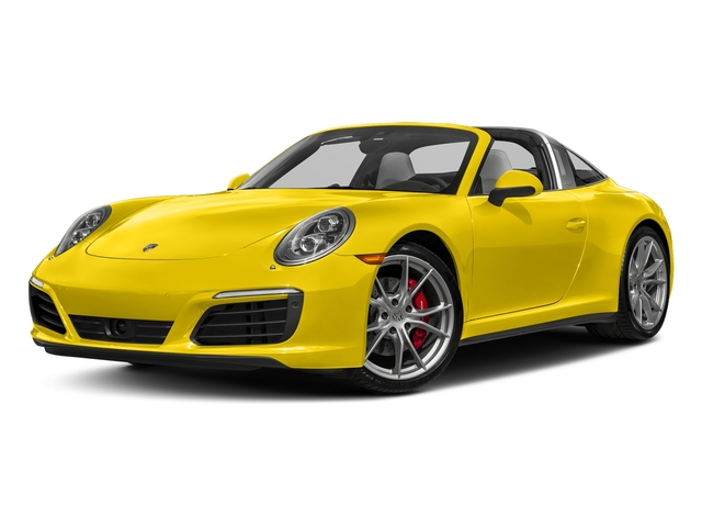 Racing Yellow 2018 Porsche 911 Pictures 911 Targa 4 GTS photos front view