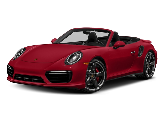 Carmine Red 2018 Porsche 911 Pictures 911 Turbo Cabriolet photos front view
