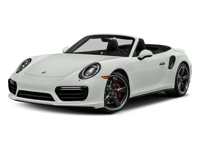 White 2018 Porsche 911 Pictures 911 Turbo Cabriolet photos front view