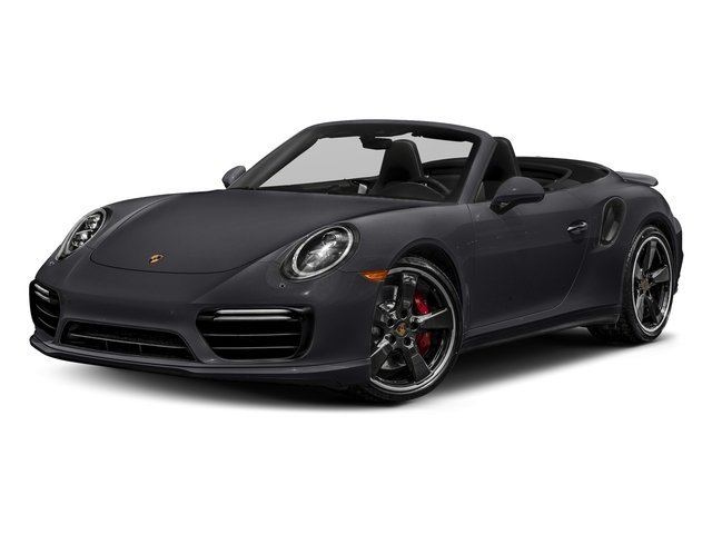 Jet Black Metallic 2018 Porsche 911 Pictures 911 Turbo Cabriolet photos front view