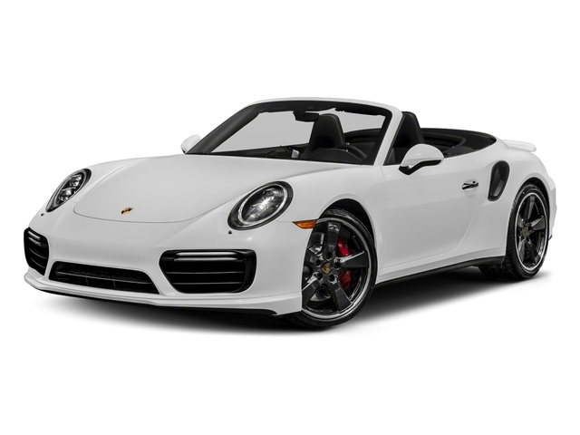 Carrara White Metallic 2018 Porsche 911 Pictures 911 Turbo Cabriolet photos front view