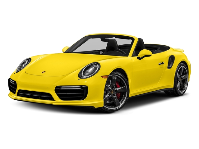 Saffron Yellow Metallic 2018 Porsche 911 Pictures 911 Turbo Cabriolet photos front view