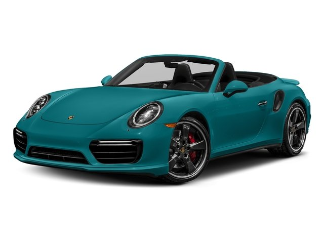 Miami Blue 2018 Porsche 911 Pictures 911 Turbo Cabriolet photos front view