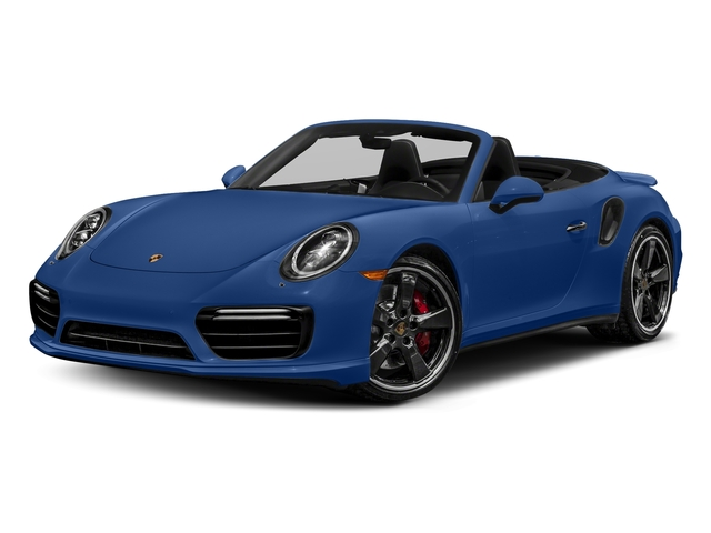 Sapphire Blue Metallic 2018 Porsche 911 Pictures 911 Turbo Cabriolet photos front view
