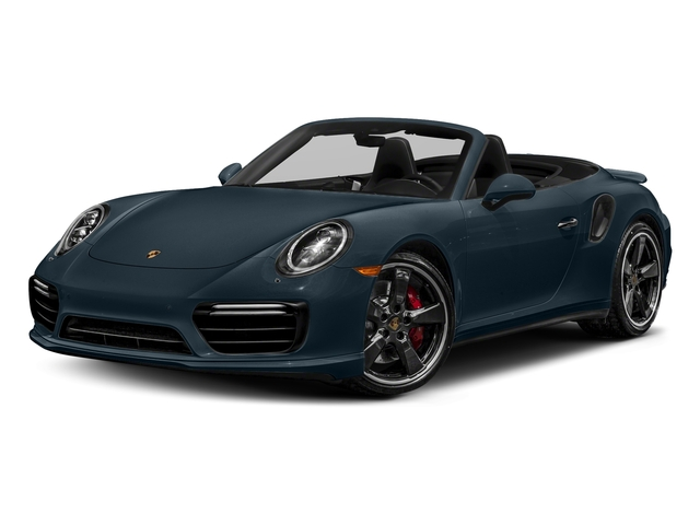 Night Blue Metallic 2018 Porsche 911 Pictures 911 Turbo Cabriolet photos front view