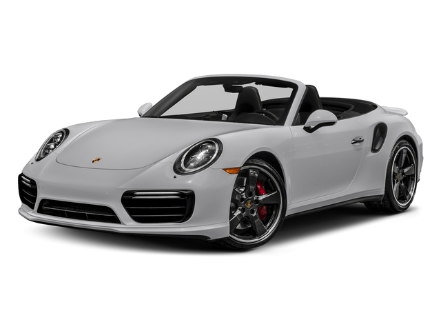 GT Silver Metallic 2018 Porsche 911 Pictures 911 Turbo Cabriolet photos front view