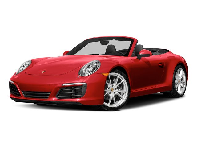 Guards Red 2018 Porsche 911 Pictures 911 Carrera 4 Cabriolet photos front view