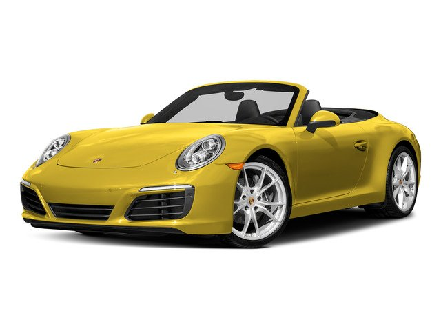 Racing Yellow 2018 Porsche 911 Pictures 911 Carrera 4 Cabriolet photos front view