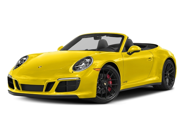 Racing Yellow 2018 Porsche 911 Pictures 911 Carrera GTS Cabriolet photos front view