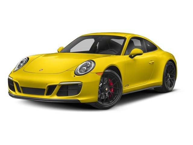 Racing Yellow 2018 Porsche 911 Pictures 911 Carrera 4 GTS Coupe photos front view