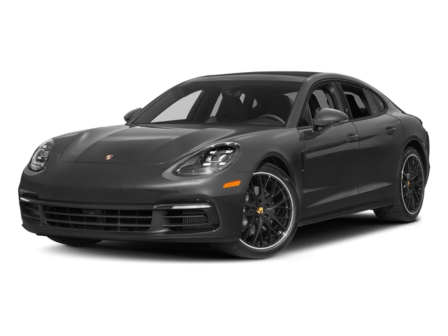 Volcano Grey Metallic 2018 Porsche Panamera Pictures Panamera 4S Executive AWD photos front view