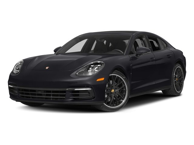 Jet Black Metallic 2018 Porsche Panamera Pictures Panamera 4S Executive AWD photos front view